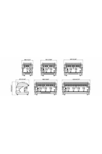 BFC Lira S White kétkaros kávéfőző gép